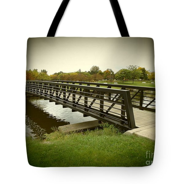 Bay City Walking Bridge Tote Bag by Erick Schmidt