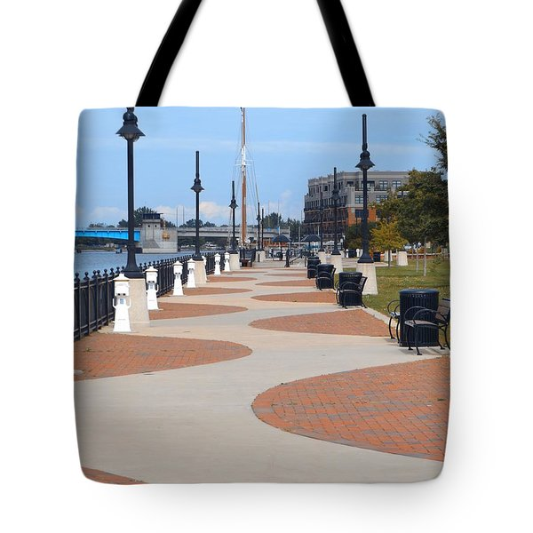 Bay Citys Rivers Edge Tote Bag by Erick Schmidt