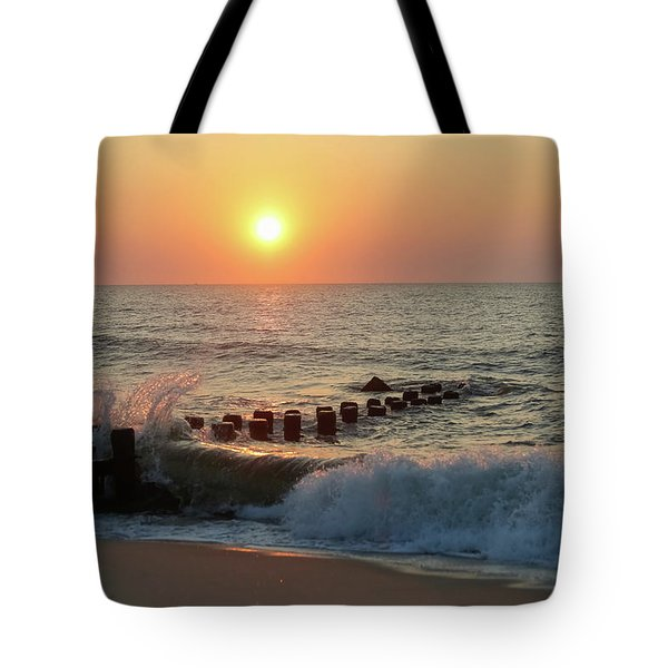 Bay Head Beach Sunrise 1 Tote Bag