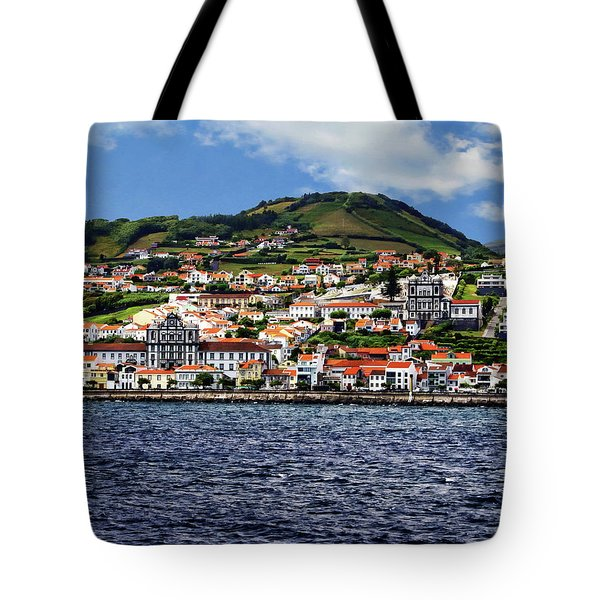 Bay Of Horta Tote Bag