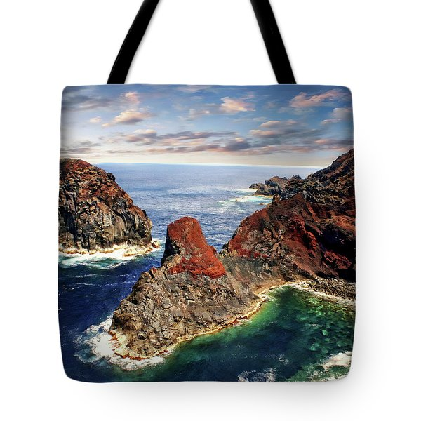 Bay Of Ponta Da Barca Tote Bag