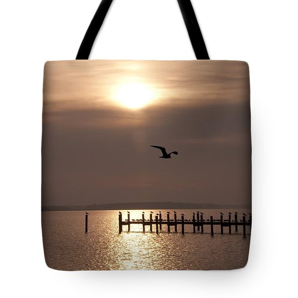 Bay Sunrise Tote Bag by Bill Cannon
