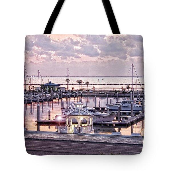 Bay Sunrise Tote Bag