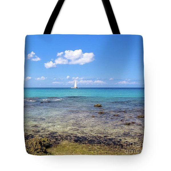 Tote Bag featuring the photograph Bayahibe Coral Reef by Benny Marty