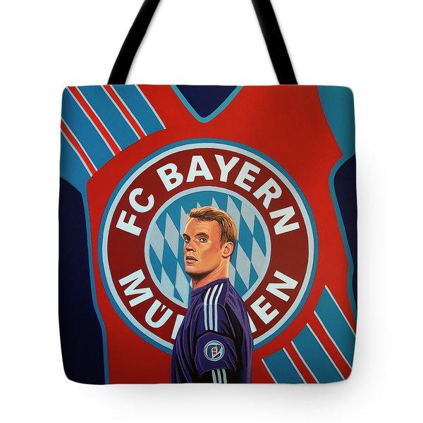 Bayern Munchen Painting Tote Bag
