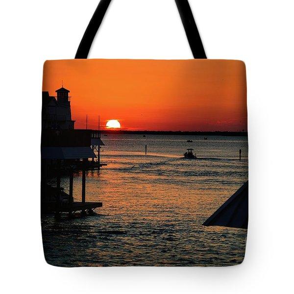 Bayou Vista Sunset Tote Bag
