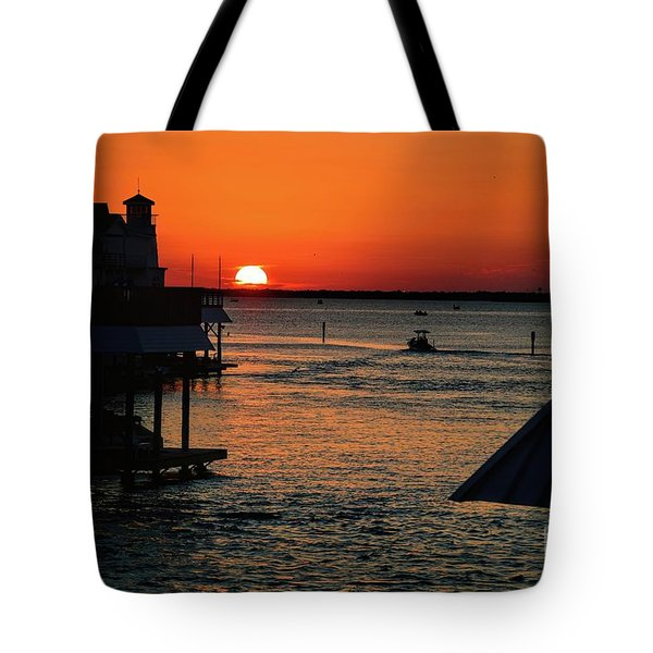 Bayou Vista Sunset Tote Bag