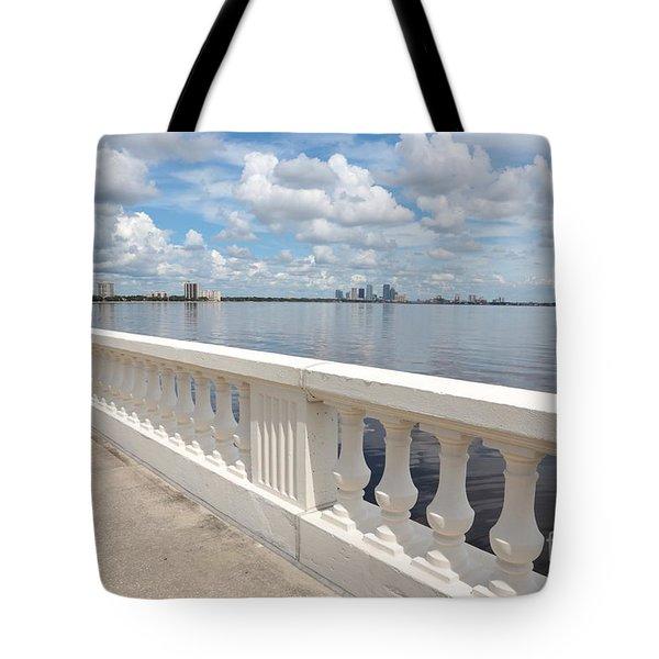 Bayshore Boulevard Balustrade Tote Bag