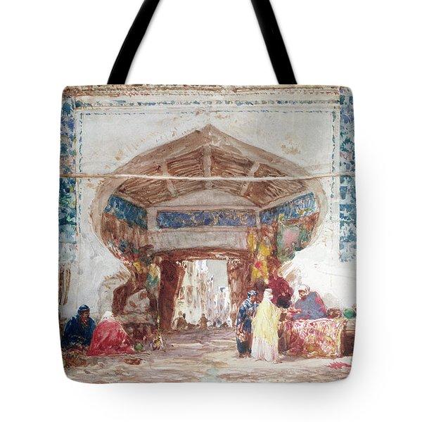 Bazaar In Constantinople Tote Bag