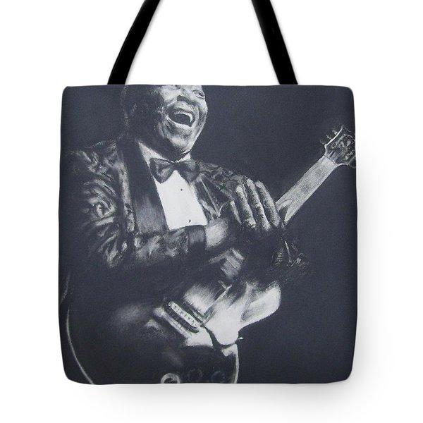 Bb King Tote Bag by Cynthia Campbell
