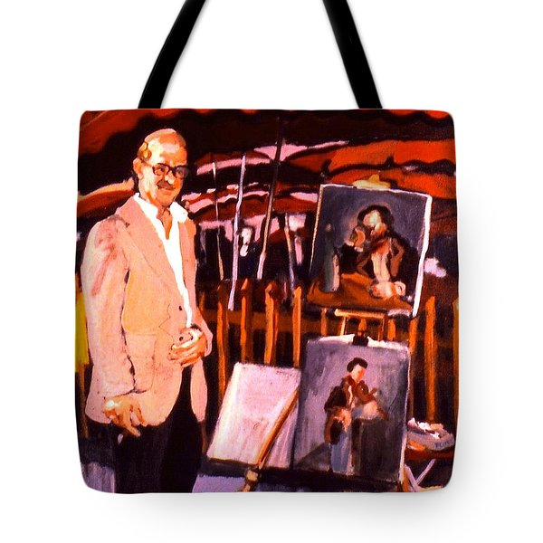 Tote Bag featuring the painting B B And G by Les Leffingwell