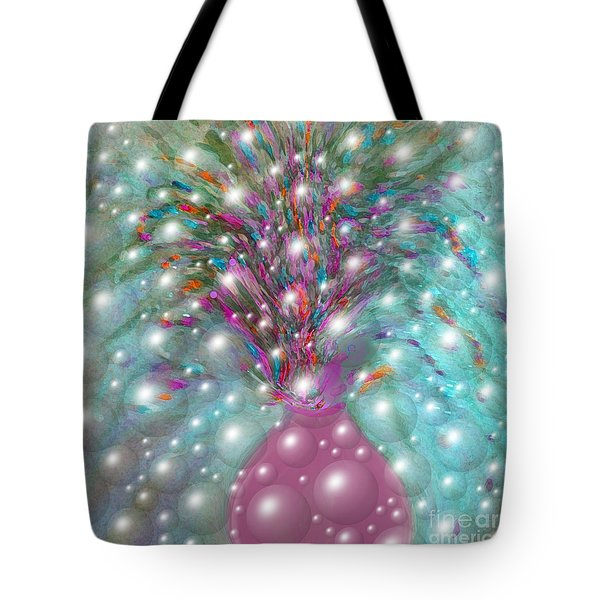 Bbubbling Vase Of Flowers Tote Bag