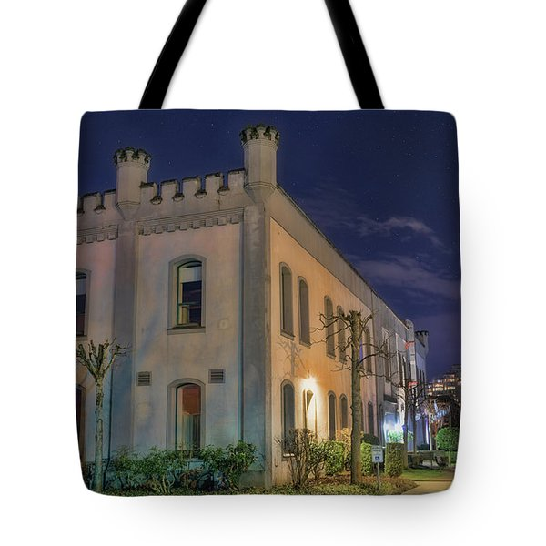 Tote Bag featuring the mixed media B.c.penitentiary by Jim  Hatch