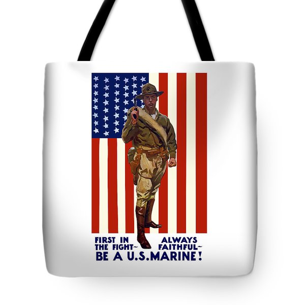 Be A Us Marine Tote Bag by War Is Hell Store