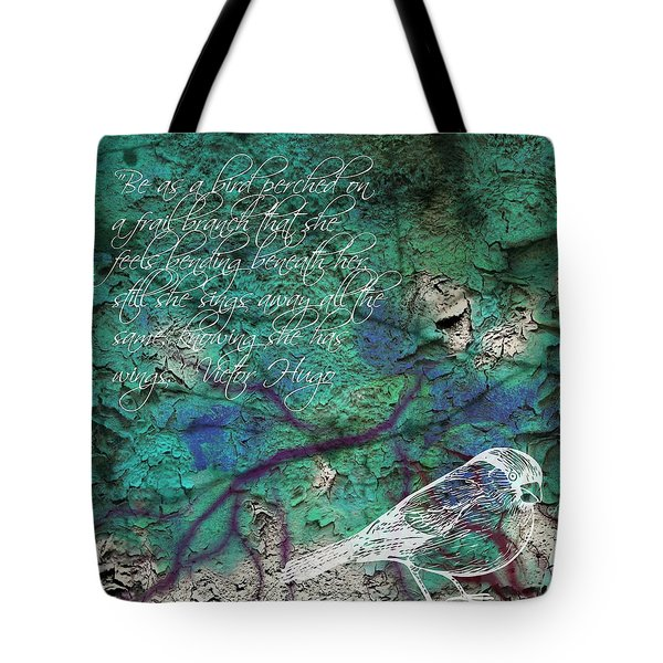 Tote Bag featuring the photograph Be As A Bird by Robin Regan