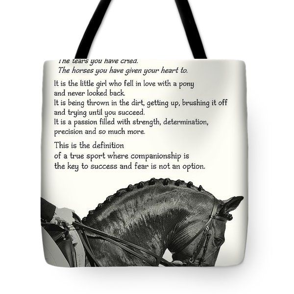Be Equestrian Quote Tote Bag