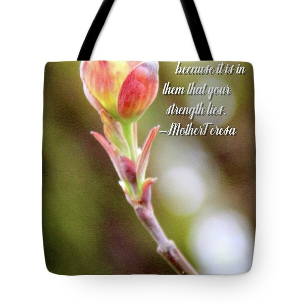 Be Faithful By Mother Teresa Tote Bag