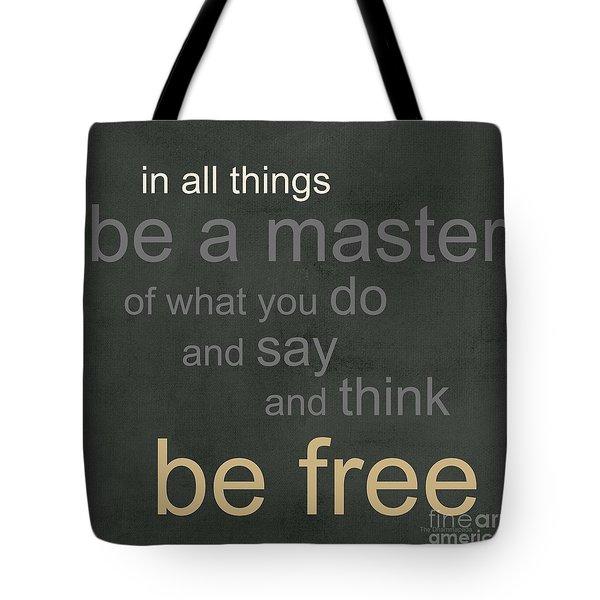 Be Free Tote Bag by Linda Woods