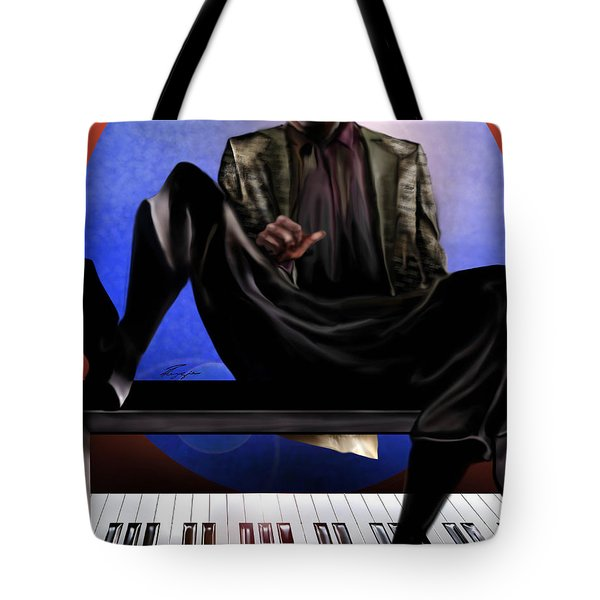 Be Good To Ya - Ray Charles Tote Bag by Reggie Duffie