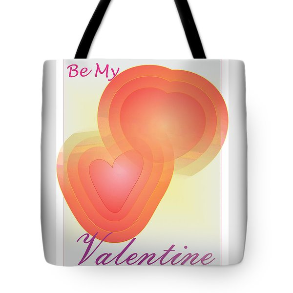Tote Bag featuring the digital art Be My Valentine by Sherril Porter