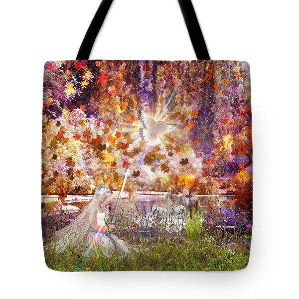 Tote Bag featuring the digital art Be Still And Know by Dolores Develde