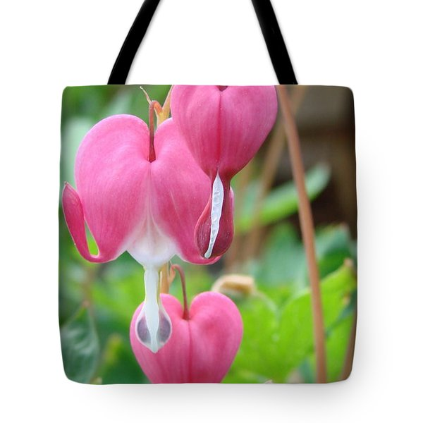 Tote Bag featuring the photograph Be Still My Little Bleeding Heart by Margaret Bobb