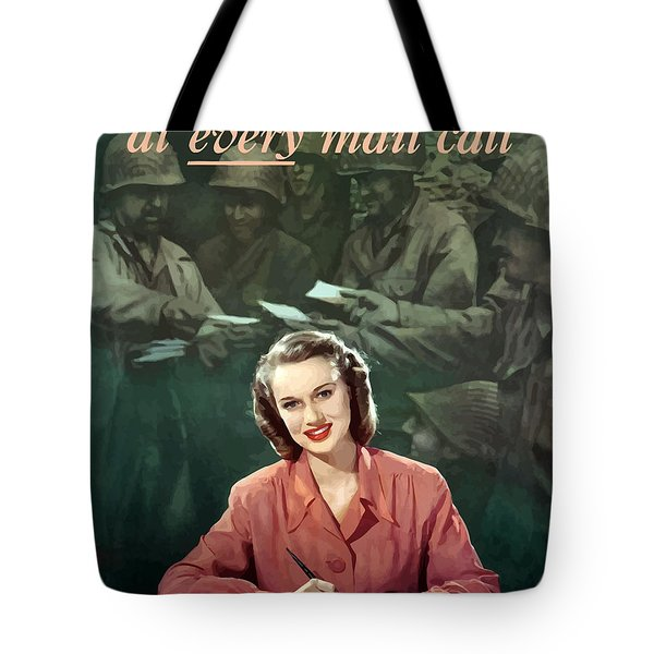 Be With Him At Every Mail Call Tote Bag