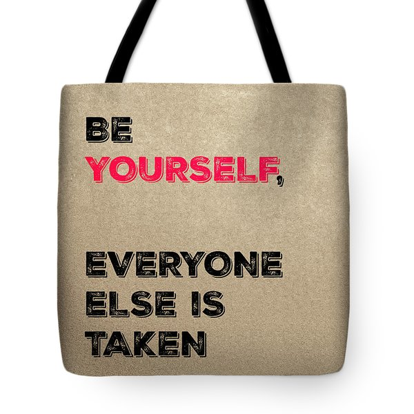 Be Yourself #3 Tote Bag