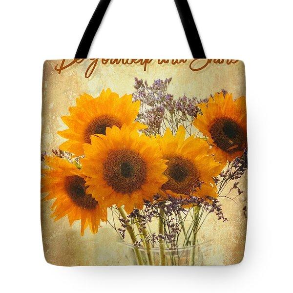 Be Yourself And Shine Tote Bag