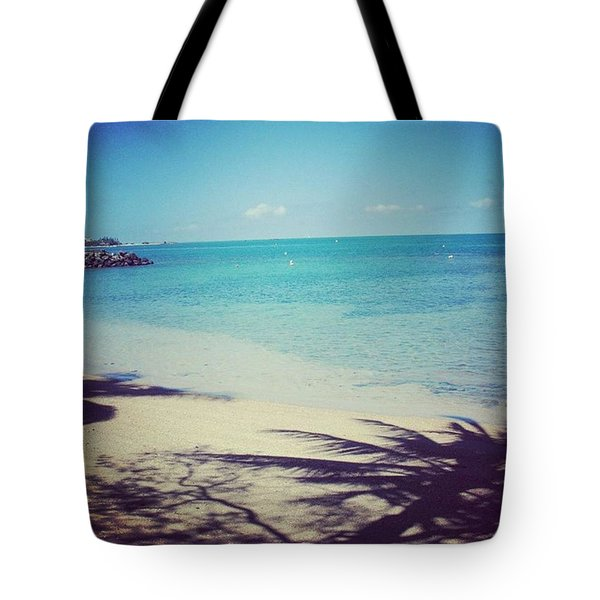 Beach And Palm Trees Shade Tote Bag