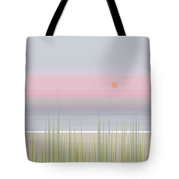Beach Abstract - Square Tote Bag by Val Arie