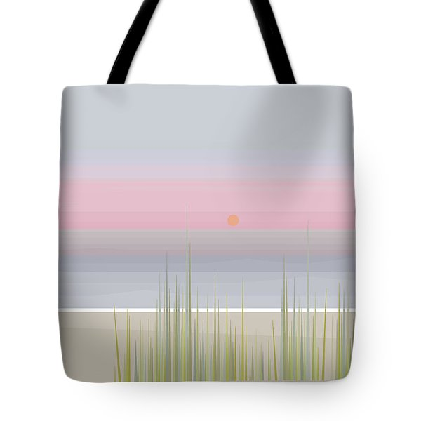 Beach Abstract Tote Bag by Val Arie