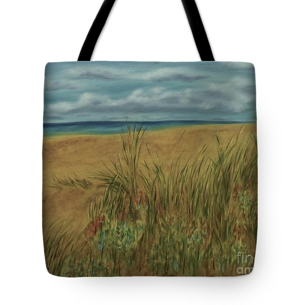 Beach And Clouds Tote Bag