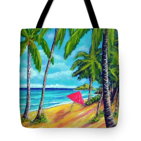 Beach And Mokulua Islands  #368 Tote Bag by Donald k Hall