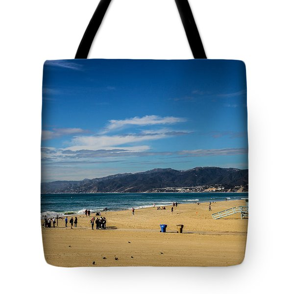Beach And Mountains Tote Bag