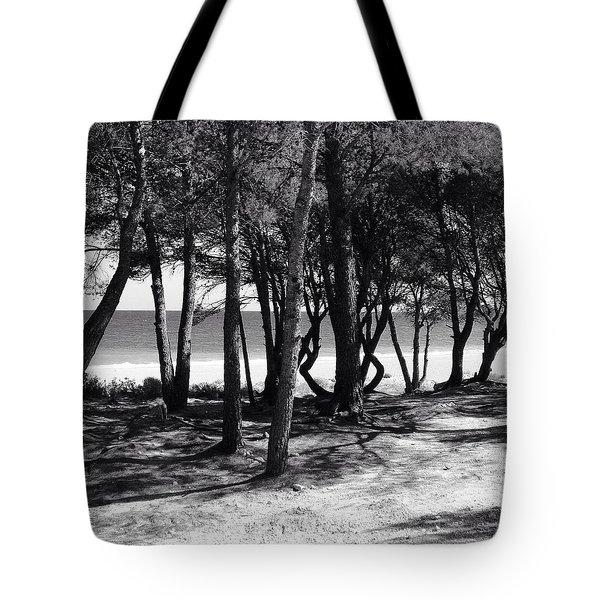 Beach And Trees Tote Bag