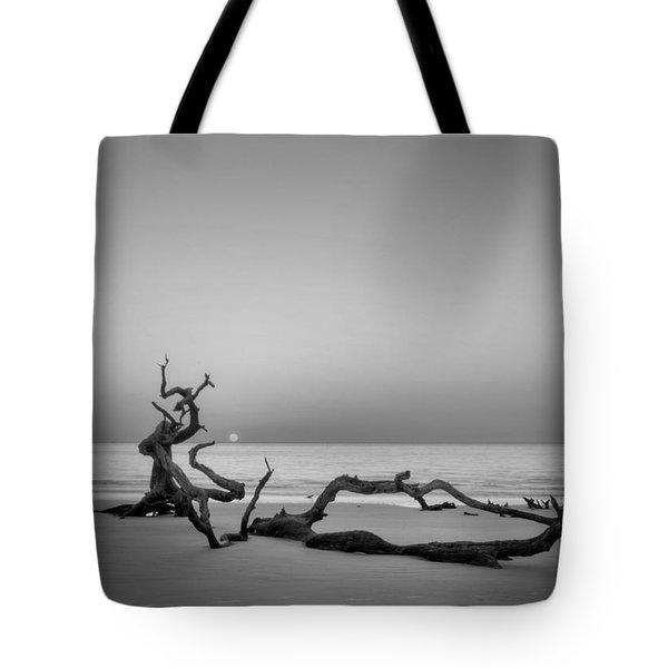 Beach Art In Black An White Tote Bag