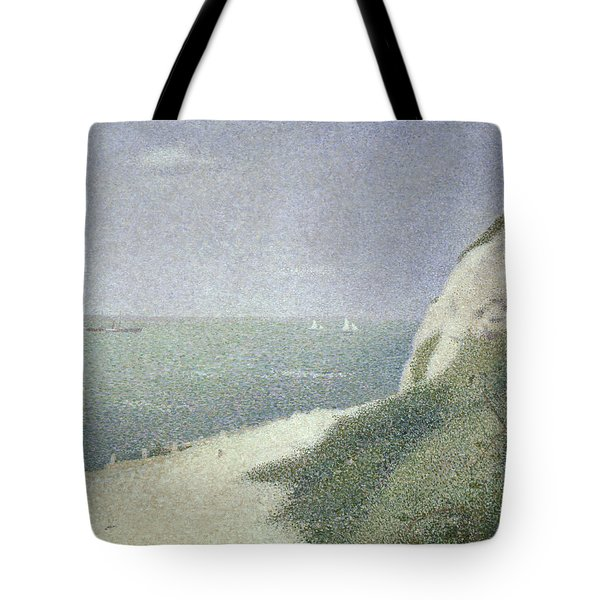 Beach At Bas Butin Tote Bag by Georges Pierre Seurat