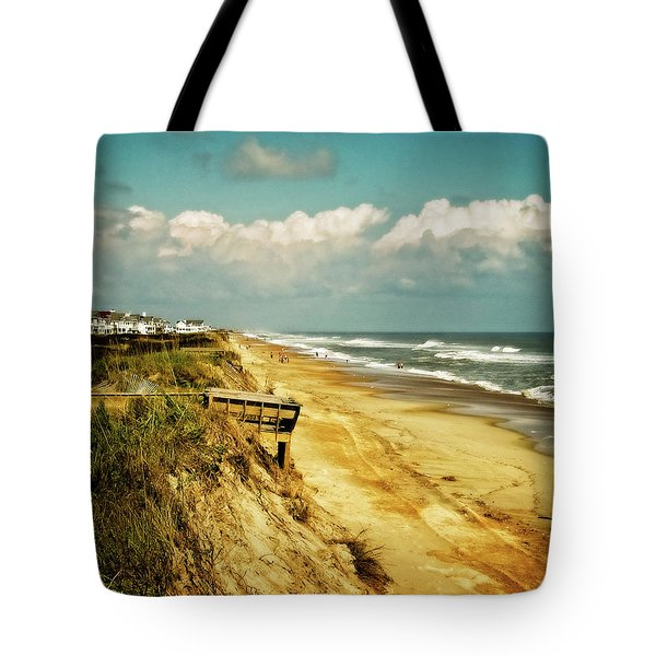 Beach At Corolla Tote Bag