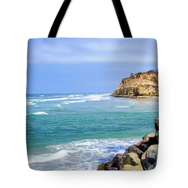 Beach At Del Mar, California Tote Bag