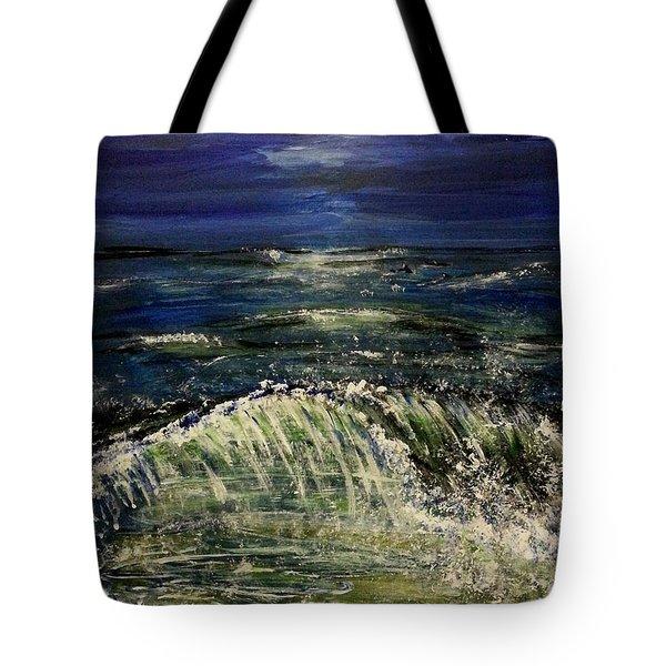 Beach At Night Tote Bag