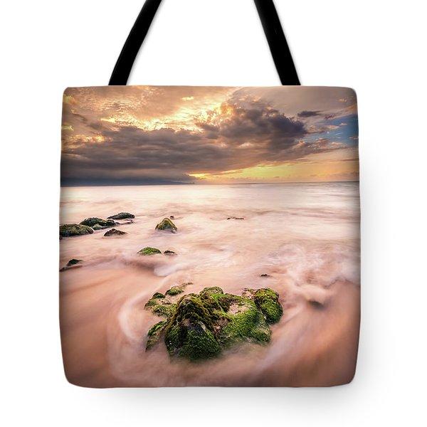 Beach At Paia Tote Bag