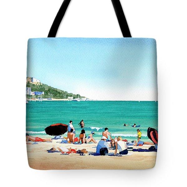 Beach At Roses, Spain Tote Bag