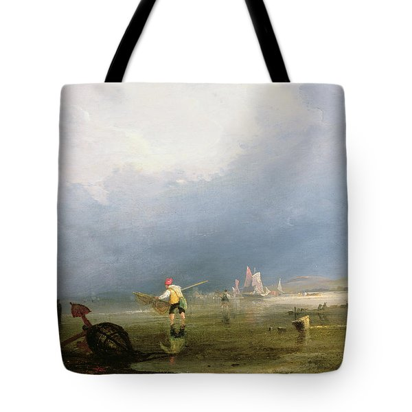 Beach At Shoreham Tote Bag by Anthony Vandyke Copley Fielding