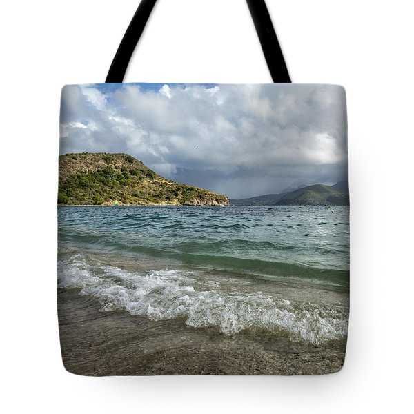 Beach At St. Kitts Tote Bag
