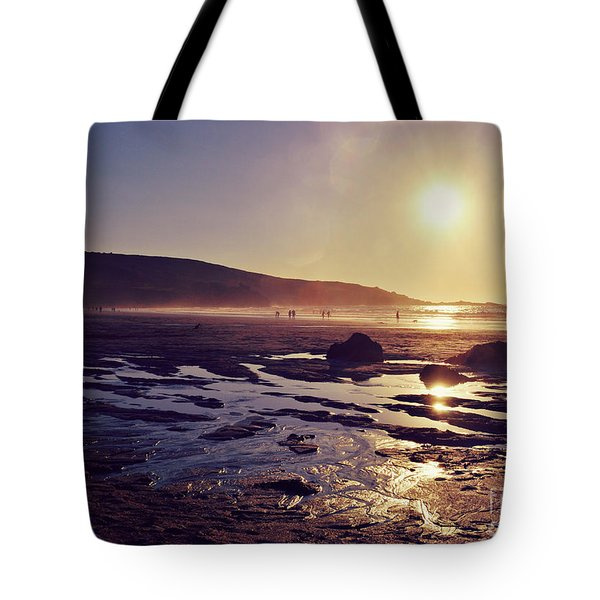 Tote Bag featuring the photograph Beach At Sunset by Lyn Randle