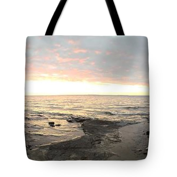 Tote Bag featuring the photograph Beach At Sunset  by Paula Brown