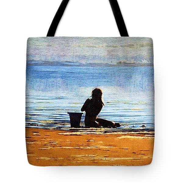 Beach Baby Blue Tote Bag