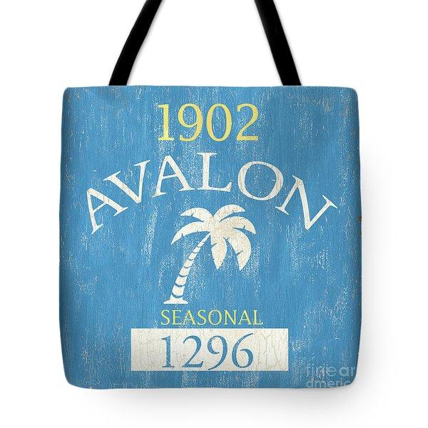 Beach Badge Avalon Tote Bag