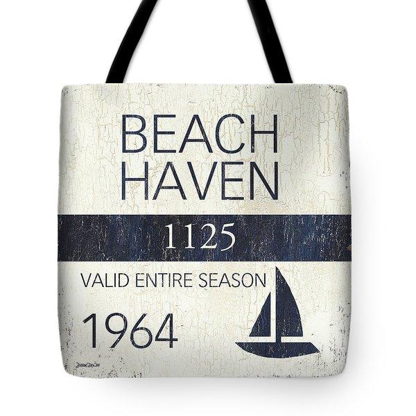 Beach Badge Beach Haven Tote Bag